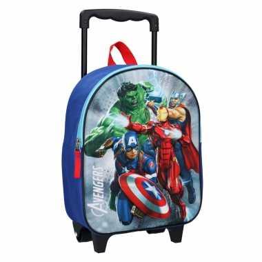 Vakantie avengers handbagage reiskoffer/trolley 31 cm voor kinderen