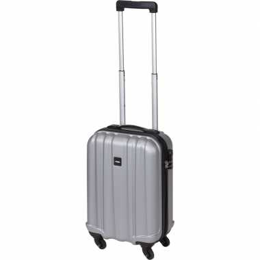 Vakantie grijze handbagage trolley 45 cm