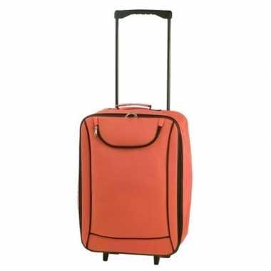 Vakantie handbagage trolley oranje 1,1 kg