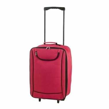Vakantie handbagage trolley rood 1,1 kg