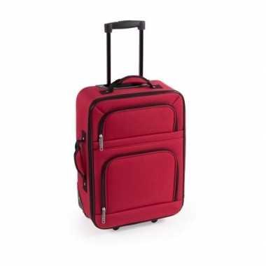 Vakantie handbagage trolley rood 50 cm