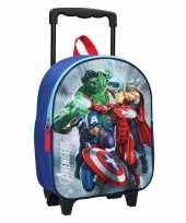 Vakantie avengers handbagage reiskoffer trolley 31 cm voor kinderen