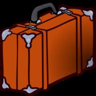 Vakantie handbagage reiskoffer trolley zwart 46 cm